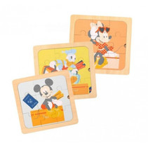 legpuzzels Mickey Mouse junior 22 cm hout 3-delig