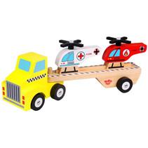 helikoptertransporter jongens 31 cm hout 4-delig