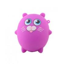 squishy kat kneedfiguur 8 cm paars