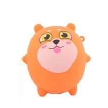 squishy hondje kneedfiguur 8 cm oranje
