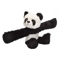 knuffel panda junior 20 cm pluche zwart/wit