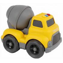 cementwagen Road Truck jongens 16 cm geel/grijs