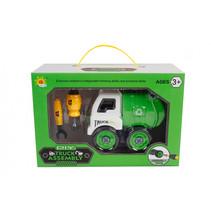 vuilniswagen jongens 16 cm groen 24-delig