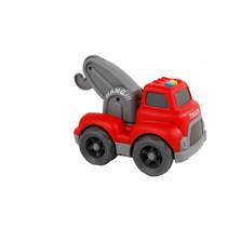 takelwagen met licht en geluid jongens 16 cm rood