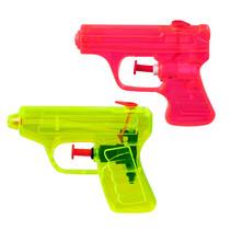 waterpistolen 7,5x10 cm rood/geel  2 stuks