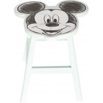 kruk Mickey Mouse junior 25 cm hout wit/zwart