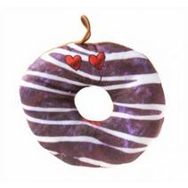 knuffel donut junior 15 cm pluche bruin streepjes
