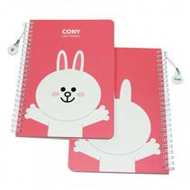 notitieboek Linefriends A5 karton roze