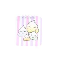notitieboekje meisjes 10 x 8 cm papier roze/paars