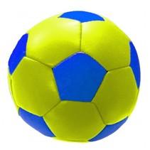 speelbal soft 10 cm geel/blauw