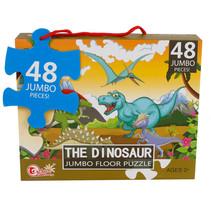 vloerpuzzel The Dinosaur jongens 90 x 60 cm 48 stukjes