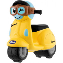 speelgoedmotor Vespa Primavera junior geel