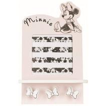 fotolijstje en kapstok Minnie Mouse 21 cm hout roze