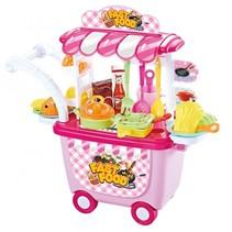 speelgoedkeuken trolley 34-delig