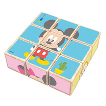 blokkenpuzzel Mickey Mouse junior 21 cm hout