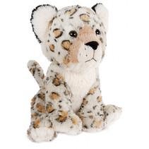 knuffel luipaard zittend junior 37 cm pluche grijs