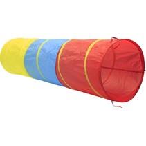speeltunnel 180 x 47 cm geel/blauw/rood