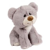 knuffel beer junior 19 cm pluche grijs