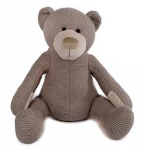 knuffel beer gebreid junior 20 cm textiel grijs