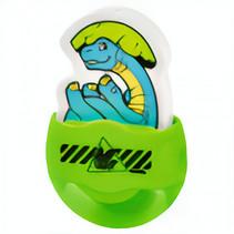 puntenslijper/gum dino jongens kunststof 6 cm groen