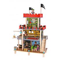 speelset Piratenkasteel junior 74 cm hout 17-delig