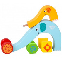 speelset Rail Roller junior hout blauw/geel 5-delig
