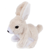 knuffel konijn junior 15,5 cm pluche beige/wit