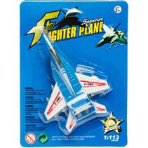 gevechtsvliegtuig jongens 17 cm blauw