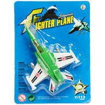 gevechtsvliegtuig jongens 17 cm groen