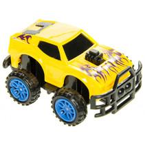 monstertruck jongens 6 cm geel/blauw
