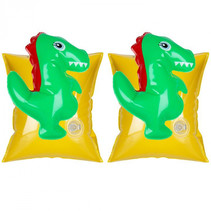 zwembandjes dinosaurus 17 cm vinyl geel/groen