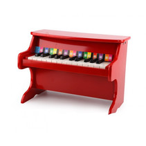 mini piano 41,5 x 25 x 29,5 cm hout rood