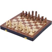 schaakspel Inklapbaar 38,5 cm essenhout bruin 33-delig