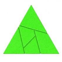 breinbreker puzzel Driehoek 7,5 cm steen groen 5-delig