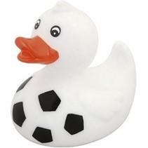 badeend voetbal wit/zwart junior 8 x 7 x 8 cm