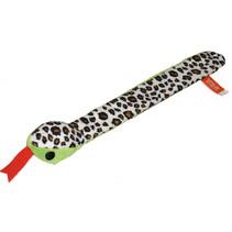 klaparmband slang junior 30 cm pluche groen/bruin