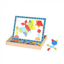magneetpuzzel junior 29,5 x 22 cm hout blauw/wit