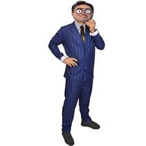 verkleedpak Gomez heren polyester blauw one-size