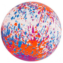 splashbal junior 23 cm foam roze/paars/wit 2 stuks