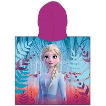 badponcho Frozen II meisjes 50 x 115 cm katoen paars