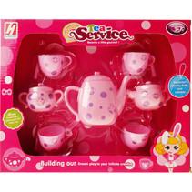 theeset Service meisjes roze 7-delig