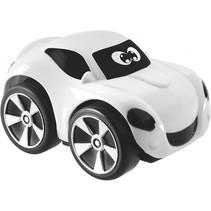 auto Mini Turbo Touch junior 9 x 6 cm zwart/wit