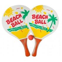 beachballset 3-delig 38 cm rood