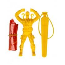 parachutespringer soldaat geel 9 cm