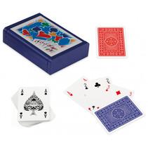 speelkaarten met houder Dibond hout blauw 3-delig