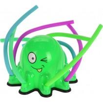 watersproeier octopus 20 cm groen
