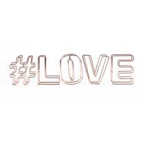 decoratie draadletters 3D #love