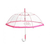 kinderparaplu roze/transparant 74 cm