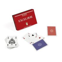 speelkaarten Excelsior Ramino karton rood 110-delig