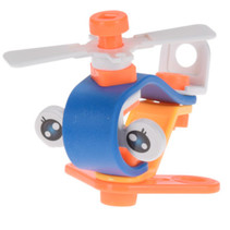helicopter junior blauw/oranje